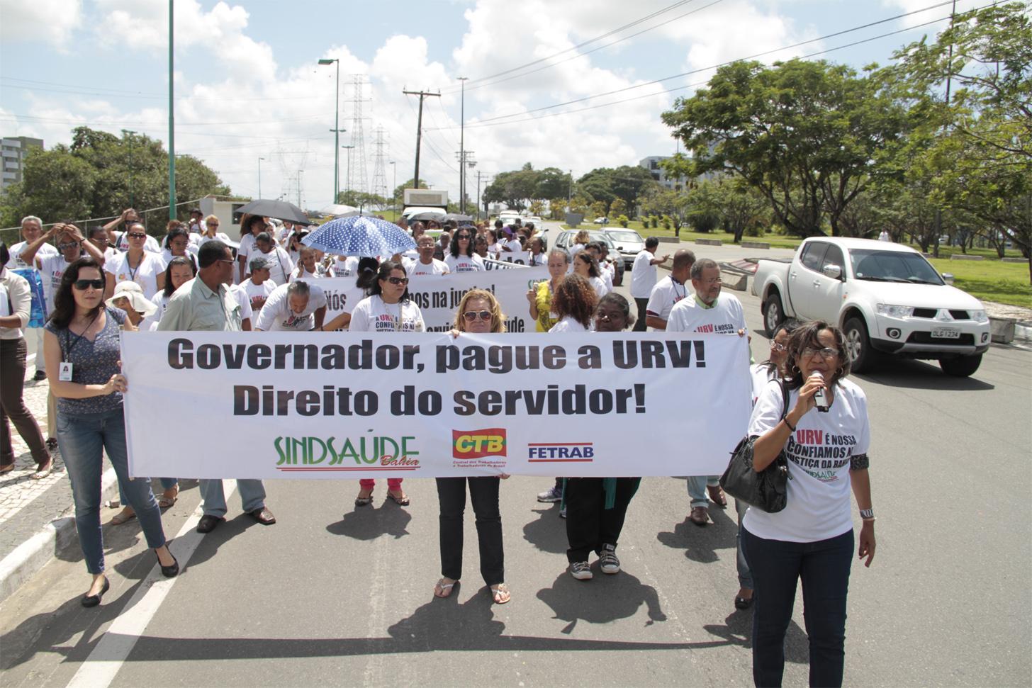 Passeata dos servidores da Saúde no CAB pela URV - 19-09-2013 - Fotos: Carlos Américo