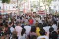 Servidores da Saúde em greve distribuem Carta à População na Praça da Piedade 22.07.2015