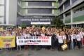 Servidores da Saúde em greve fazem manifestação no HGRS 28.07.2015