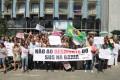 Servidores da Saúde protestam em frente à Saeb - 31.07.2015