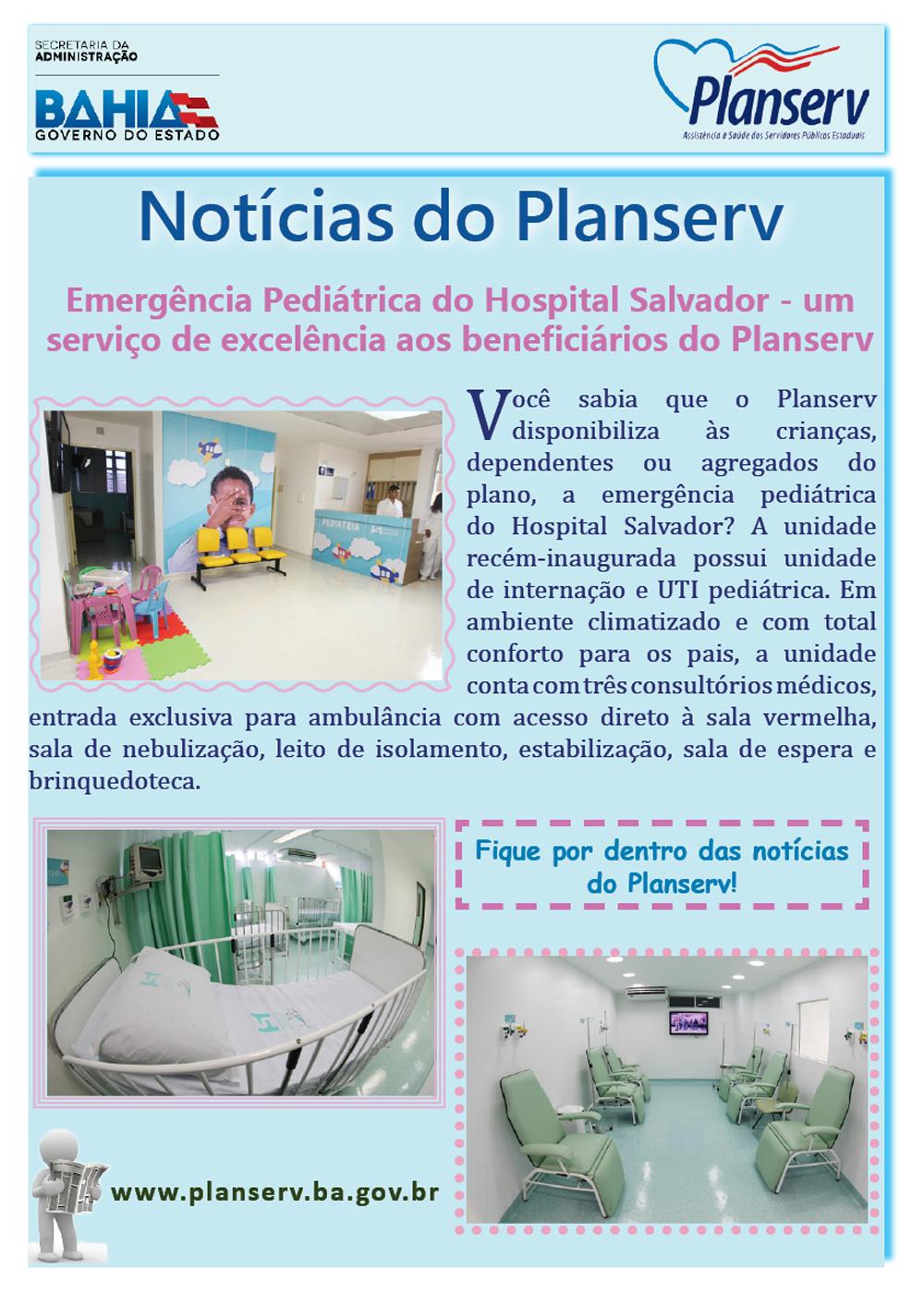 BOLETIM NOTÍCIAS DO PLANSERV - EMERGÊNCIA PEDIÁTRICA