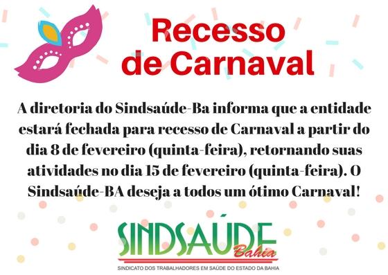 Recesso de Carnaval-2